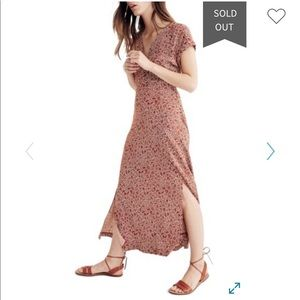 NWT Madewell Woodblock Floral Maxi Dress, 6